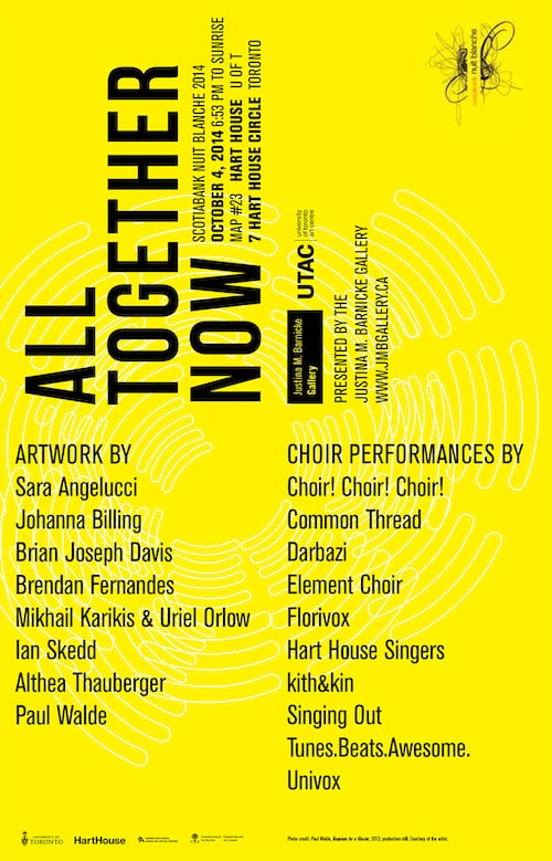 hart house choir poster
