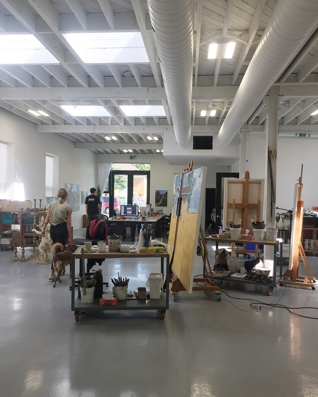 inside painter studio