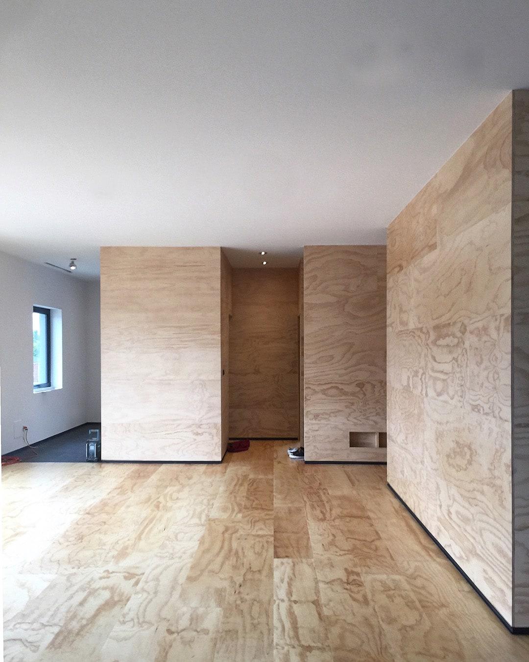 interior of painter studio